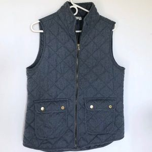 ARTISAN NY Light Blue Puffer Quilted Vest Jacket